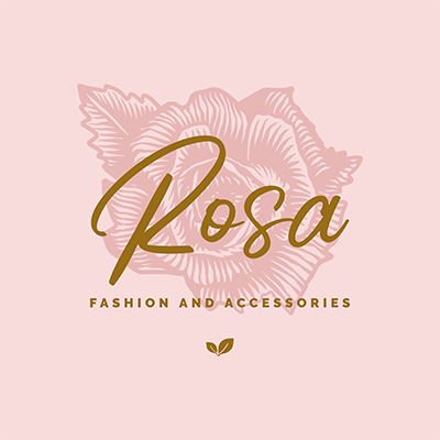 Illustrated Logo Creator Featuring A Rose Clipart