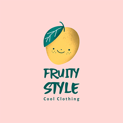 Illustrated Logo Generator For A Kids Clothing Brand Featuring A Mango Clipart