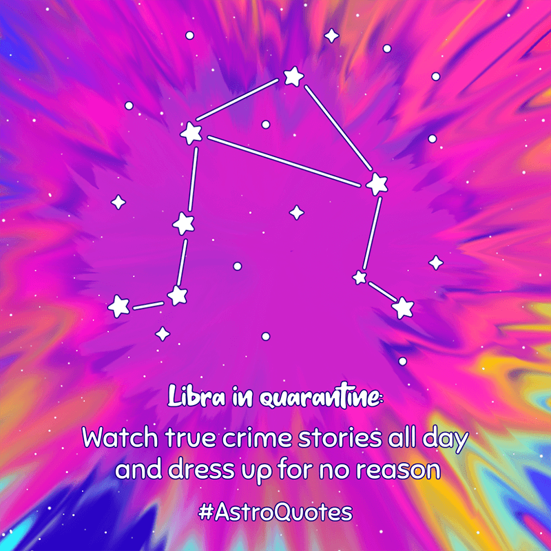 Instagram Post Template With Constellations Graphics And Tie Dye Backgrounds