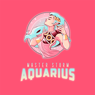 Logo Creator Inspired By The Aquarius Sign Featuring A Mystic Character