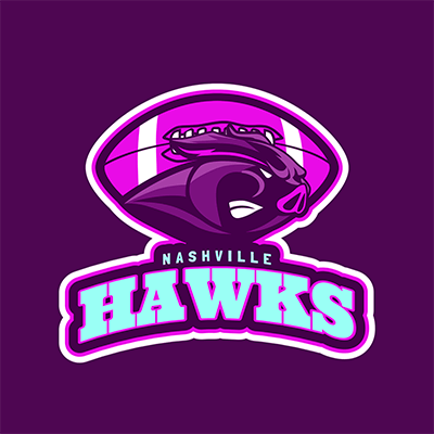 Logo Maker For A Football Team With A Hawk Illustration