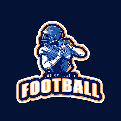 Logo Template For A Junior League Featuring A Football Player