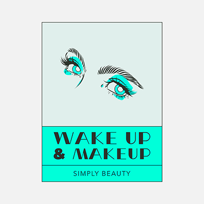 Makeup Brand Logo Creator With Female Eyes Clipart