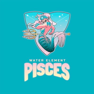Online Logo Generator Featuring A Pisces Mermaid