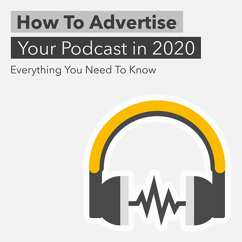 Podcast Cover Template With A Headphones Clipart