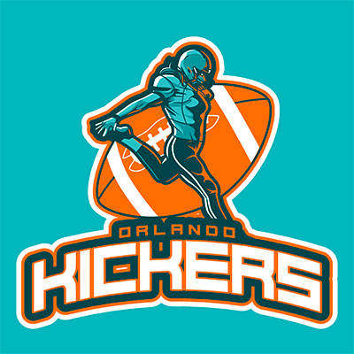 Sports Logo Maker Featuring A Football Kicker Character
