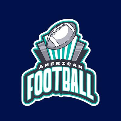 Sports Logo Maker Featuring An American Football Ball Clipart