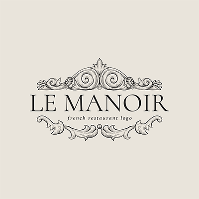 French Restaurant Logo Maker Featuring A Crown Frame