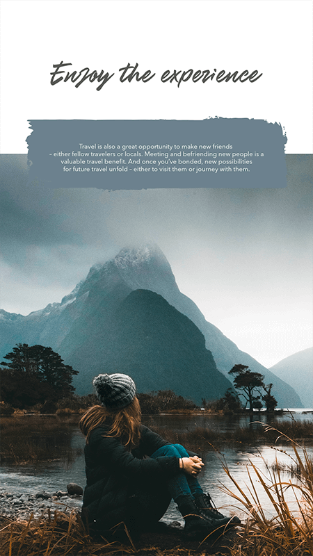 Instagram Story Design Template For Outdoor Enthusiasts