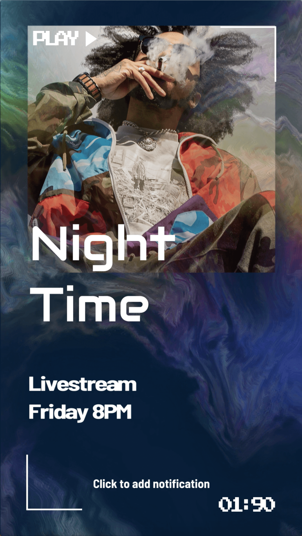 Instagram Story Video Maker To Announce A Night Time Livestream