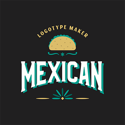 Logo Maker For Mexican Restaurants With A Taco Clipart