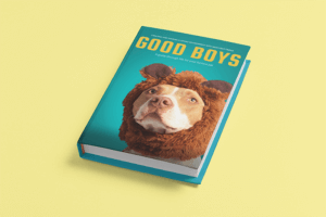 Minimal Mockup Featuring A Hardcover Book