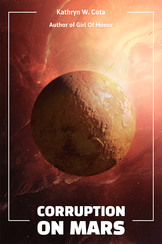 Sci Fi Book Cover Maker Featuring A Mars Background