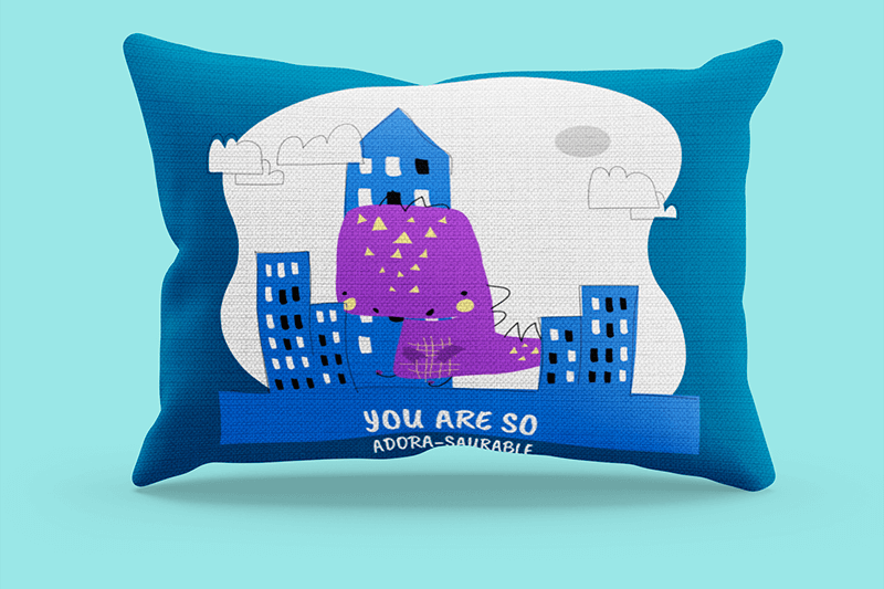 Simple Mockup Of A Rectangular Pillow In A Customizable Setting 3246 El1