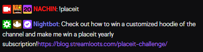 Streamloots Placeit chest - tier A prize