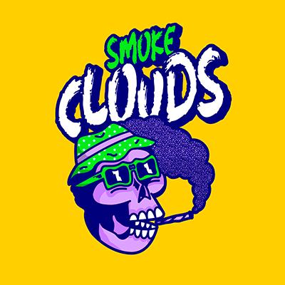 Streetwear Logo Creator Featuring A Skull Smoking A Joint