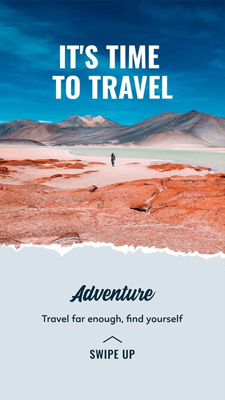 Travel Themed Instagram Story Template For Outdoor Travel Activities