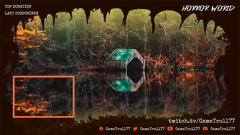 Twitch Overlay Creator With A Webcam Frame Featuring A Cabin In The Woods