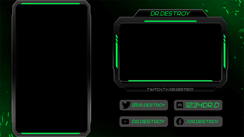 Twitch Overlay Design Template Featuring A Vertical Layout