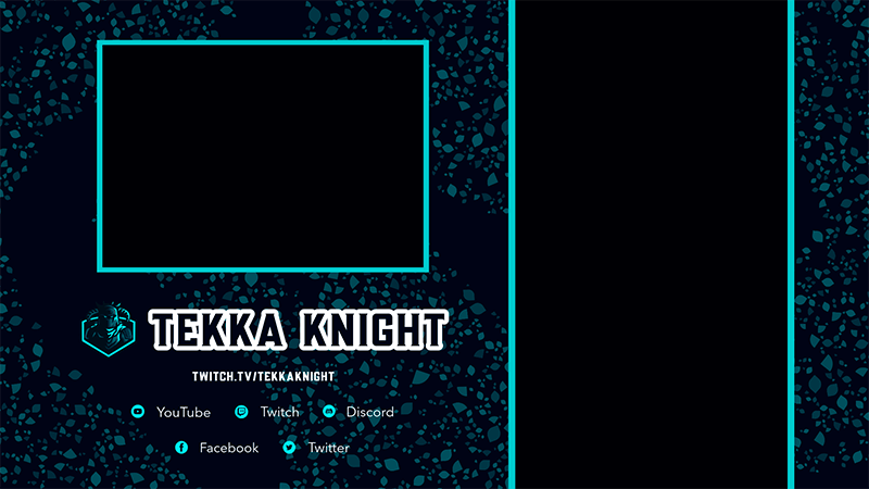 Twitch Overlay Design Template With Vertical Screen Frames For Mobile Gaming