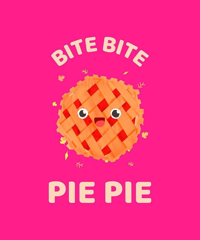 T Shirt Design Generator Featuring A Smiling Kawaii Pie