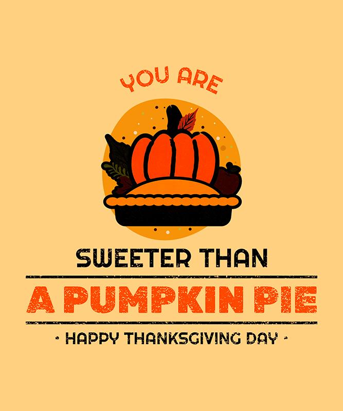 T Shirt Design Generator Featuring A Thanksgiving Pumpkin Pie Graphic