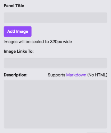 Twitch Panel Options