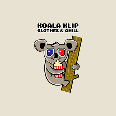 Clothing Brand Logo Maker With A Cinema Fan Koala Illustration