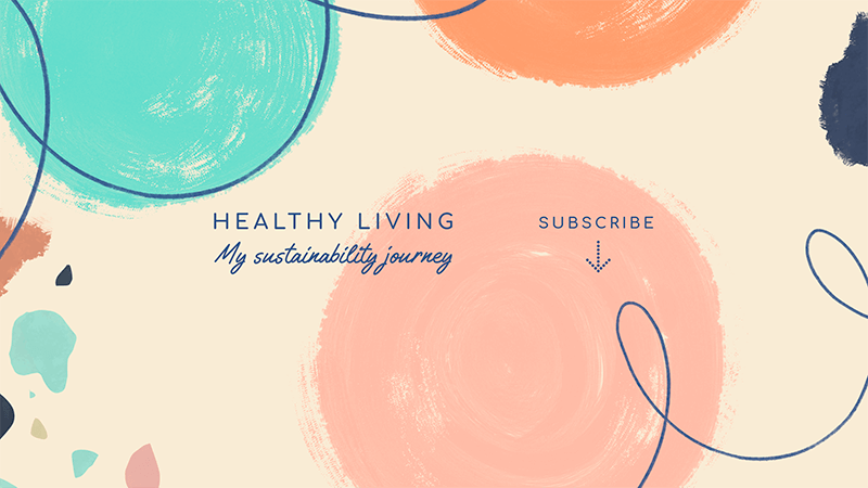 Healthy Lifestyle Themed Youtube Banner Maker With An Abstract Style