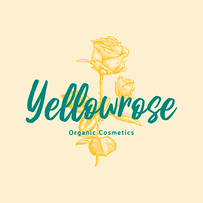 Organic Beauty Logo Creator With A Yellow Rose Graphic