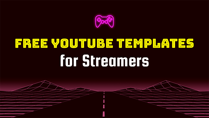 Simple Gamer Vlog Channel Banner Template