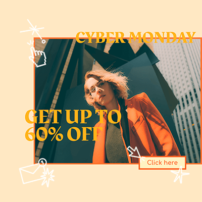 Cyber Monday Ad Banner Maker Featuring Cool Graphics