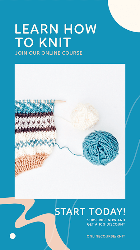 Instagram Story Maker For A Online Knitting Course
