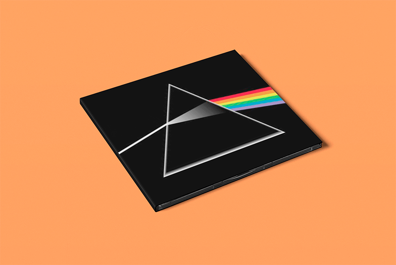 Mockup Of A Customizable Digipak Placed On A Colored Surface