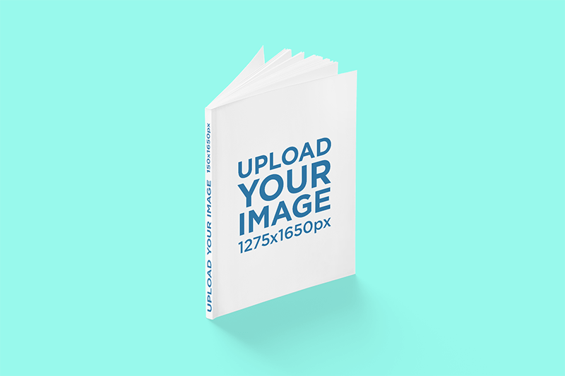 Mockup Of A Magazine With A Customizable Spine