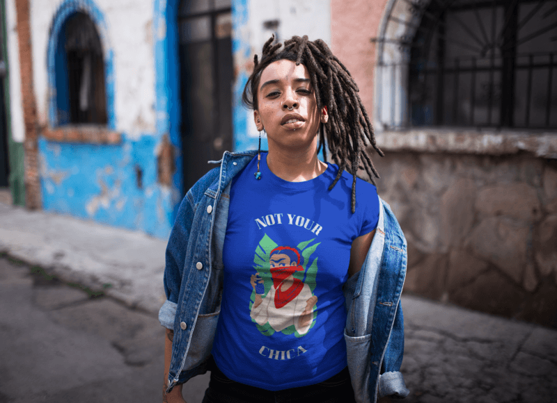 Dreadlocked Girl With An Attitude Wearing A T Shirt Mockup