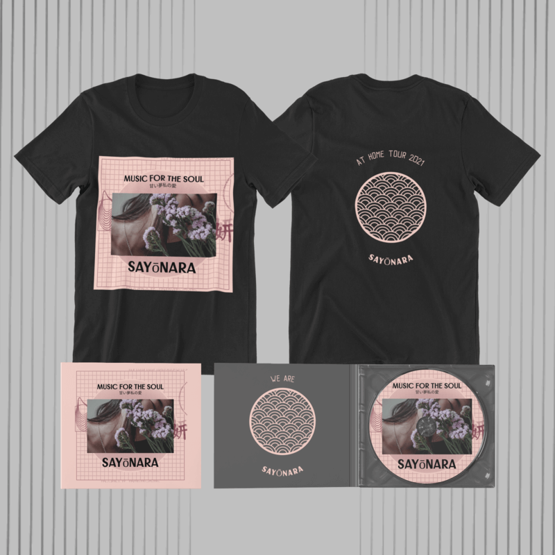 merch bundle mockup for musicians