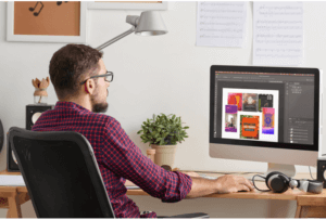 mockup-of-a-musician-using-an-imac