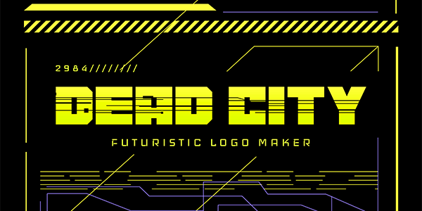 Futuristic Typography Logo Maker Inspired By Cyberpunk
