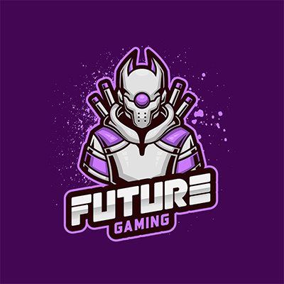 Gaming Logo Maker Featuring A Cybernetic Ninja Warrior
