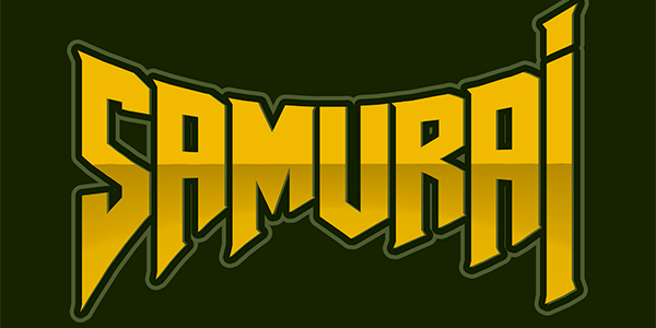 Logo Maker For Gamers Featuring An Evil Samurai Warrior