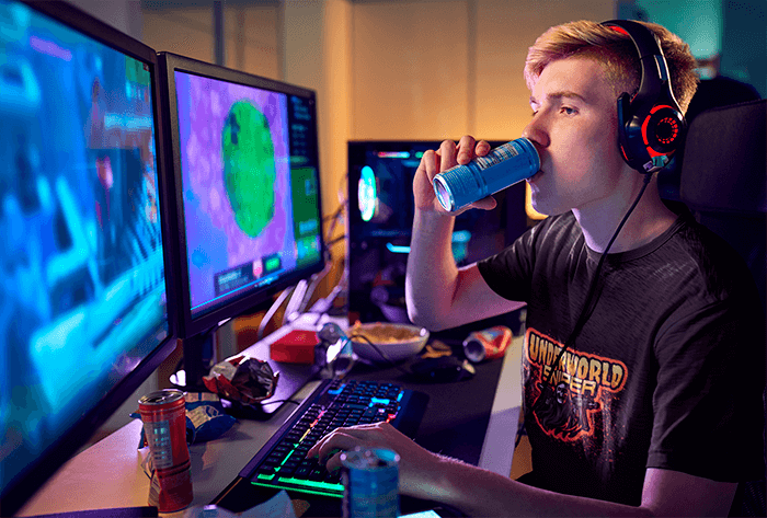 Mockup Of A Pro Gamer Wearing A T Shirt