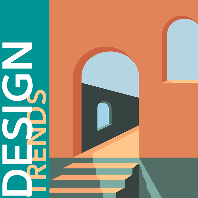 Album Cover Template With An Artistic Illustration Of A Facade