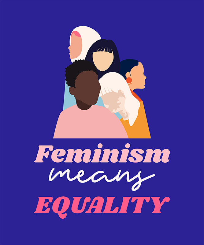 Equality T Shirt Design Maker With A Feminist Quote And Graphic