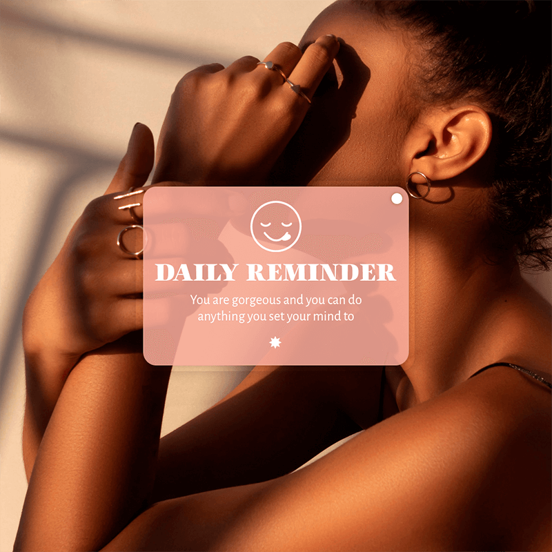 Instagram Post Maker With A Daily Reminder For Wellness