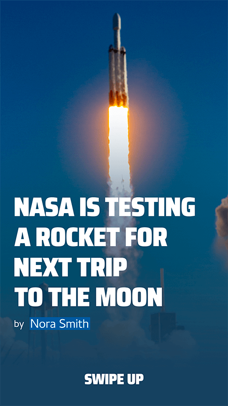 Instagram Story Creator Featuring A Nasa Rocket Launch Report