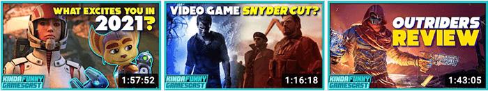 Kinda Funny Gaming Thumbnails