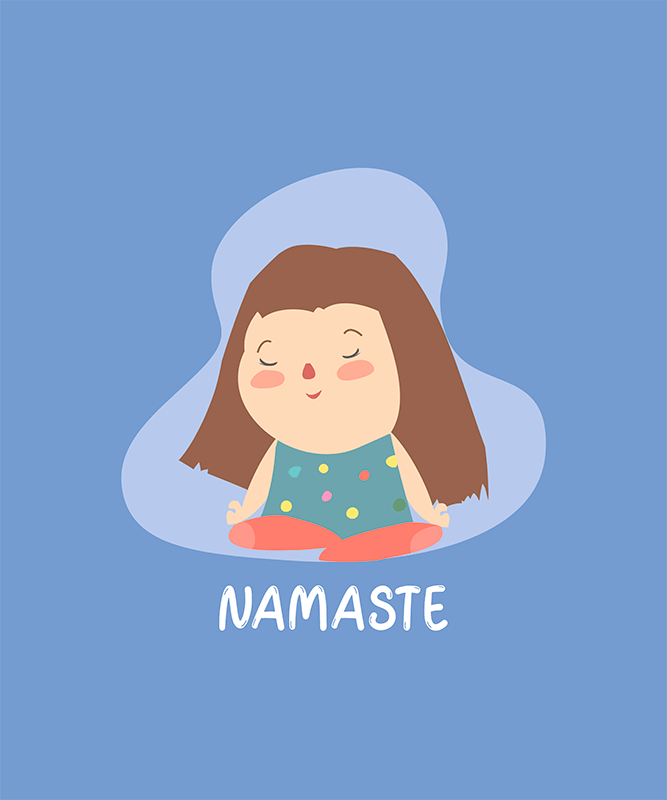 T Shirt Design Generator Featuring A Cute Illustration Of A Girl Meditating