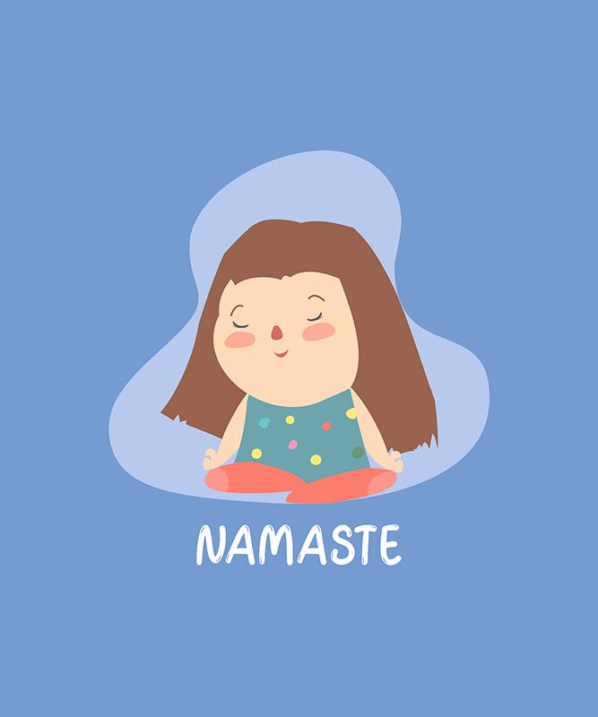 T Shirt Design Generator Featuring A Cute Illustration Of A Girl Meditating