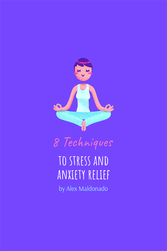 Wellness Pinterest Pin Maker Featuring A Meditating Woman Illustration